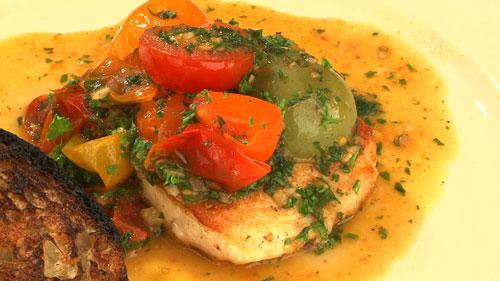 美活レストラン~あの人のキレイの秘密~:カジキマグロとトマトのコラトゥーラソース
