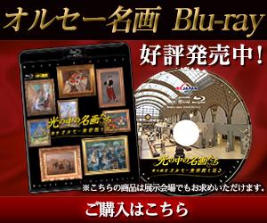 19世紀末から20世紀にかけて活躍した印象派の巨匠・モネ、ルノワールなど有名画家の名画50点を4Kカメラで撮影した贅沢なブルーレイディスクのビデオです。特典映像にオルセー美術館の姉妹館・オランジュリー美術館のモネ『睡蓮の部屋』を収録!国立新美術館ではルノワール展を開催中!光の中の名画たち 美の殿堂オルセー美術館を巡る Blu-ray Disc 好評発売中!ご購入はこちら